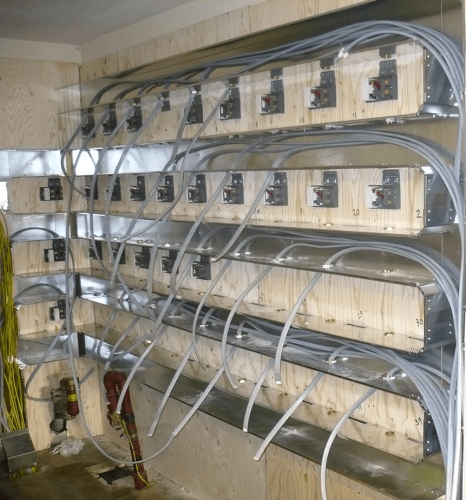 New sub station cabling