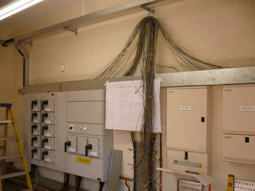 Power station cabling work